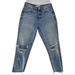 Garage High Rise Distressed Cotton Jeans Size 5